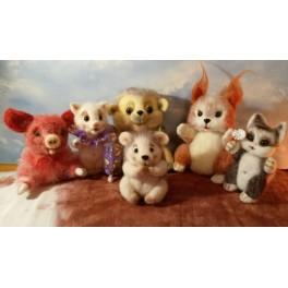 Авторские игрушки из шерсти с различной зарядкой (машинная зарядка) - Авиценна